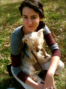 Kabler apprentice Kim taking some snuggle time with Barley.