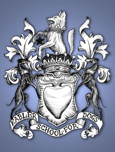 Artist Rob Hunt designed the new Kabler School For Dogs crest.