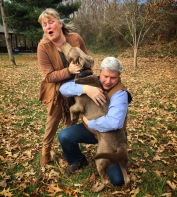 Residency guest Ollie excited to be reunited with his guardians after graduating from On and Off Leash Obedience.