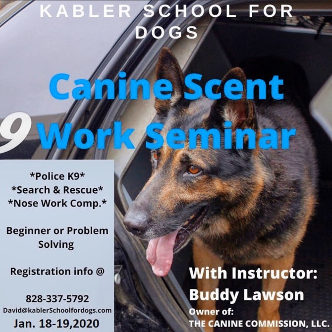 Canine Scent Work Seminar